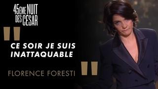 """Florence Foresti : """"Je suis courageuse d'être là ce soir"""" - César 2020"""