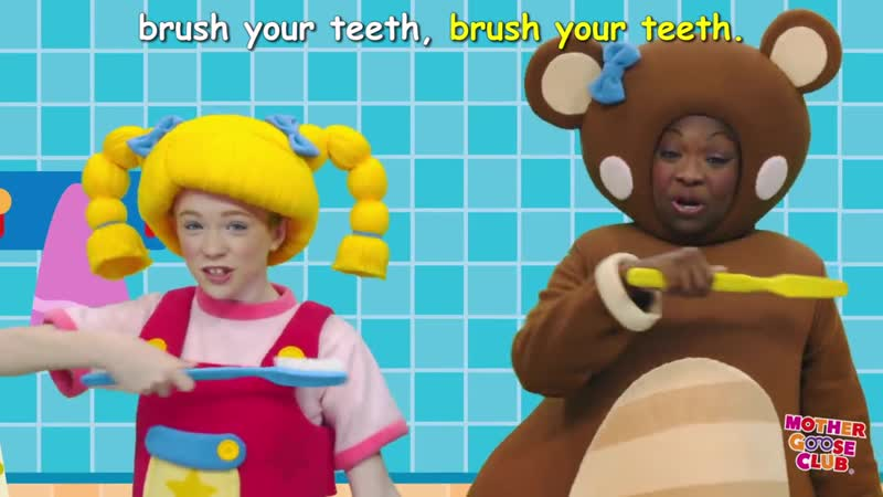 Brush Your Teeth - DIY Clean White Teeth - Mother Goose Club Songs for Children (1)
