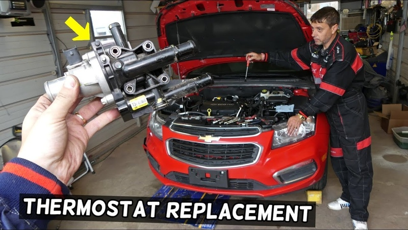 CHEVROLET CRUZE THERMOSTAT AND THERMOSTAT HOUSING REPLACEMENT CHEVY SONIC THERMOSTAT HOUSING
