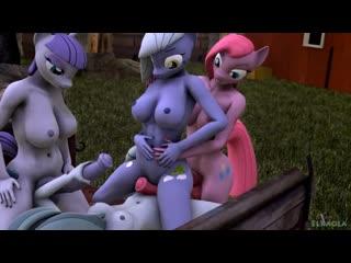 Mlp futa 3d - orgy sisters of pinkie pie - full sex - clop 3d