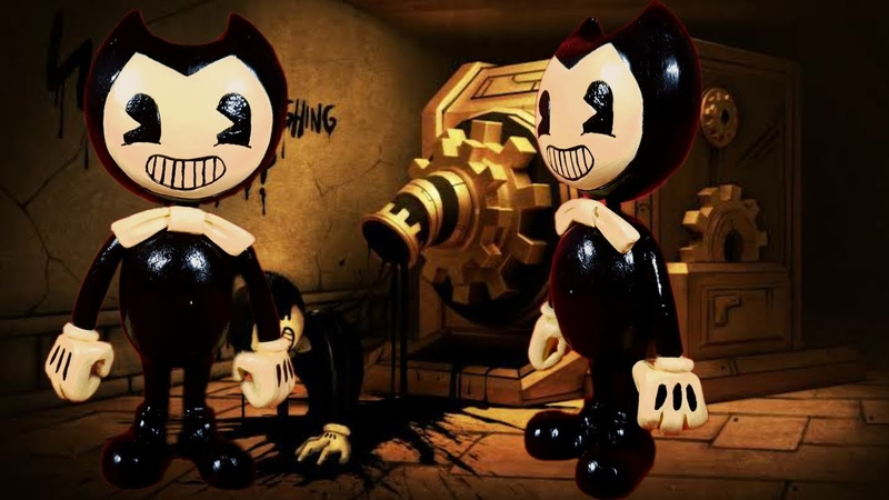 BENDY😱✒ BENDY AND THE INK MACHINE PLASTILINA✔✔✔ PORCELANA✔✔ POLYMER CLAY✔