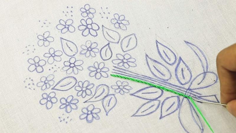 How to embroider flower bouquet * Cómo bordar un ramo de flores * Как вышить букет цветов