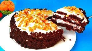 Торт Три стакана Без Миксера! Без Весов! Сочный без пропитки! Я в шоке от Вкусного Десерта на кефире