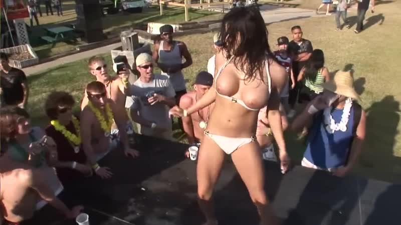 Nude spring break dancing