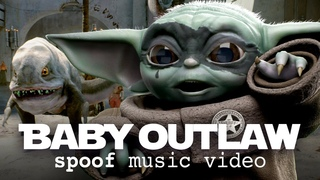 BABY OUTLAW + STARWARS - Grogu, Mandalorian & gangster Blurrg (music video spoof)