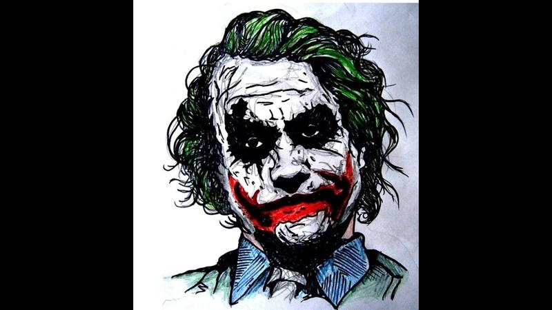 Drawing Joker in MS Paint