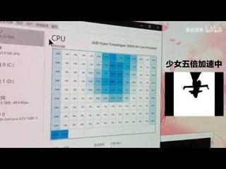 use 3990x task managertask play 《bad apple》 用Ryzen 3990x的128个框框播放bad apple!!