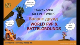 60 LVL DRUID-TWINK WORLD PVP&BG's
