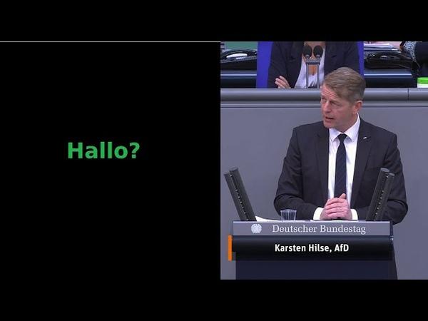 Während Trittin Rede fällt Licht im Bundestag aus AfD Mann findet die passenden Worte D