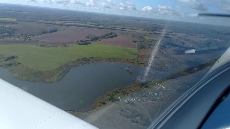 На самолете над Калужской областью