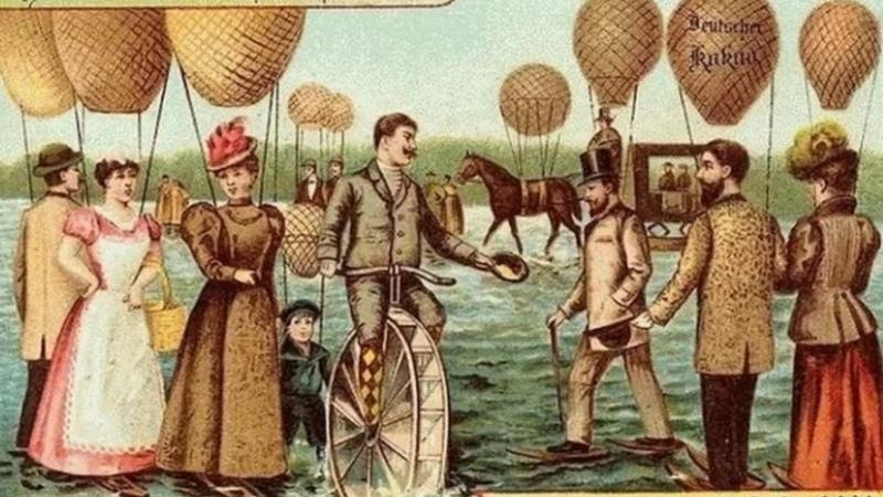Как люди в начале 20 века видели будущее и представляли себе 2000 год Будущее глазами художников