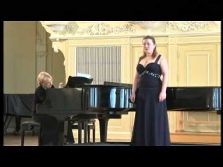 Экзамен по камерному пению.  Екатерина Бондаренко