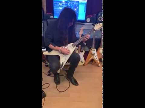 Yngwie Malmsteen jamming on his late 60s Gibson Flying V