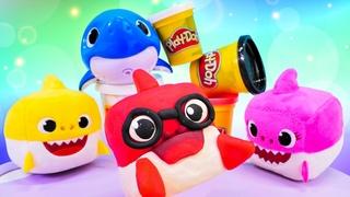 Hacemos tiburones de plastilina Play Doh. Video educativo para niños pequeños