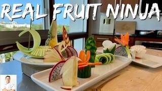 The REAL FRUIT NINJA   Cutting Skills Of A Master Sushi Chef
