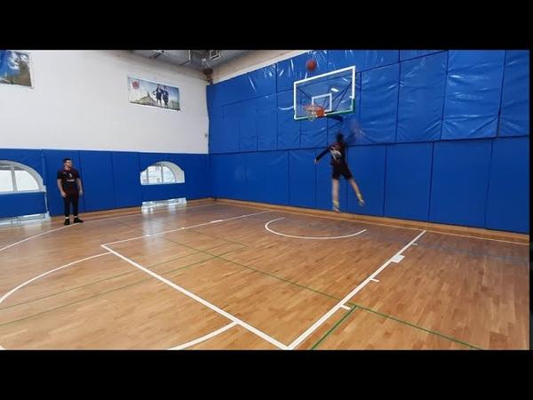 Чуть не сломал кольцо Баскетбол 4 х 4
