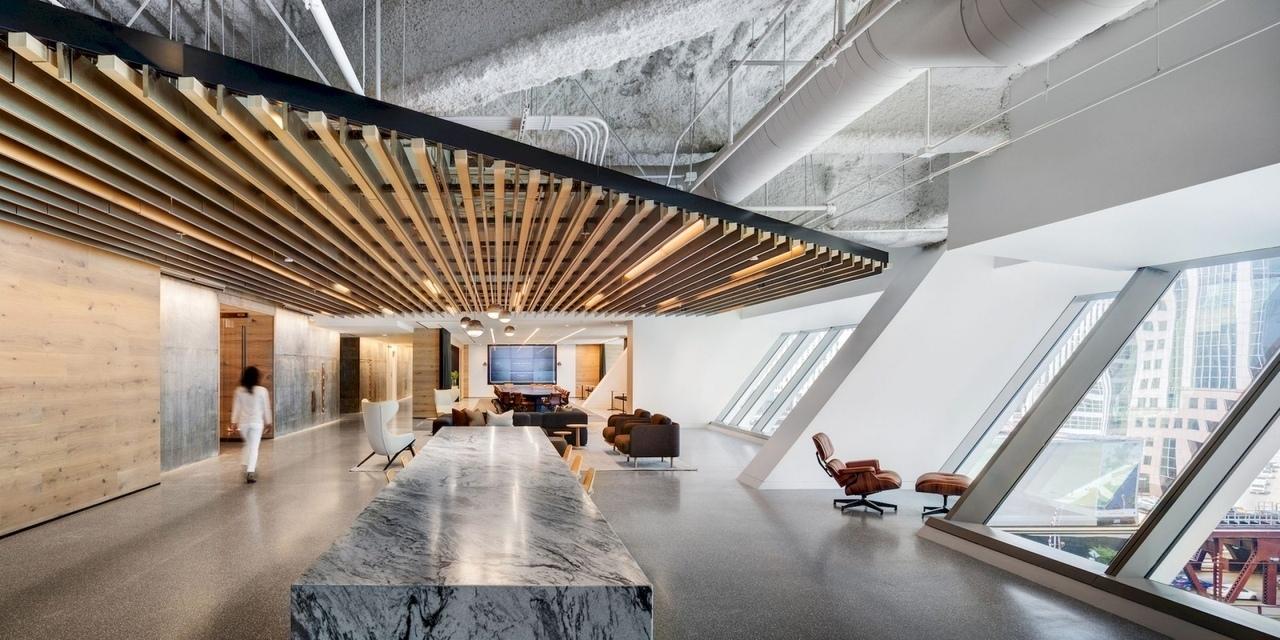 Интерьер штаб-квартиры Hyatt | Gensler