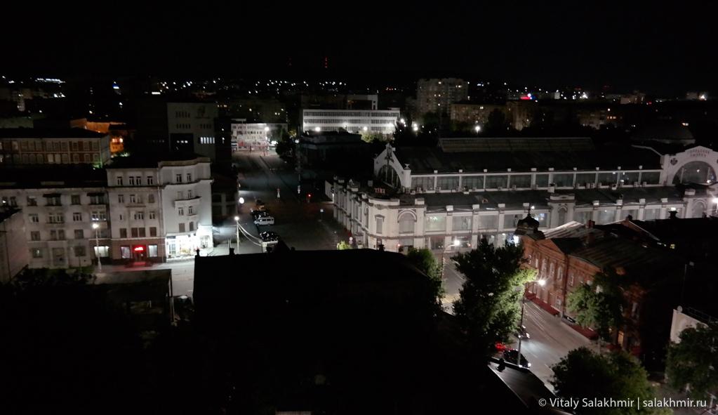 Центр Саратова ночью, Саратов 2020