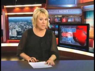 Пьяная телеведущая   Приколы в прямом эфире