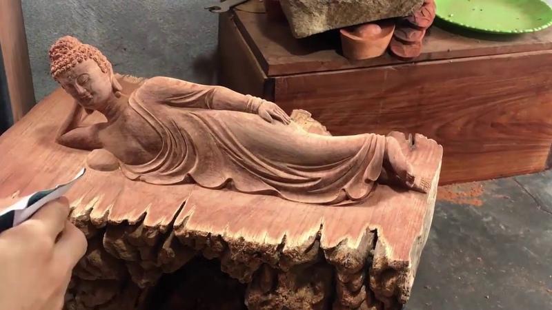 Cách làm tượng phật bằng gỗ độc đáo và lạ sáng tạo mà bạn chưa từng thấy