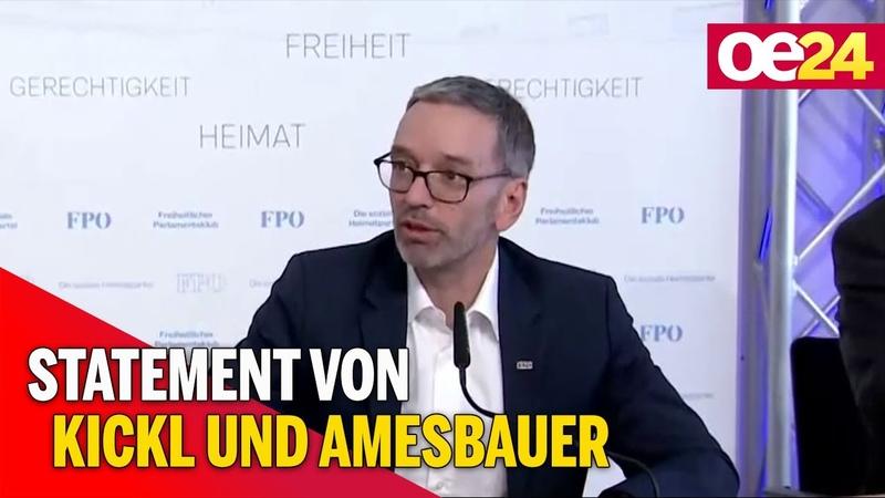 FPÖ Herbert Kickl und Hannes Amesbauer zur Asyl Politik