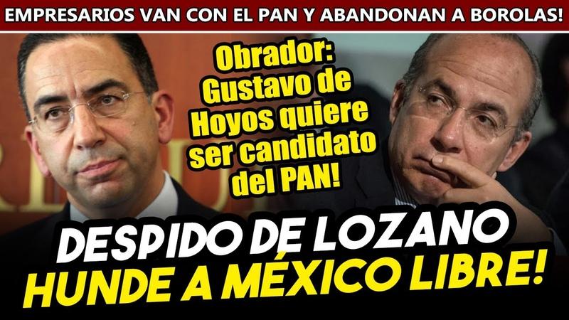 Despido de Lozano hunde a Mexico Libre Coparmex los abandona para irse con el PAN