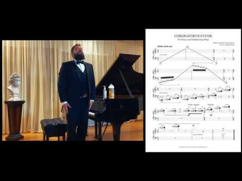 Coronavirus Etude For Piano and Disinfecting Wipe Live