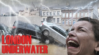 A terrible flood has flooded the streets of London!   People are leaving their homes!