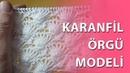 Karanfil Örgü Modeli knitting Carnation