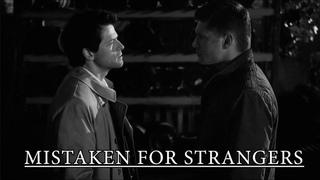 dean & castiel   mistaken for strangers.