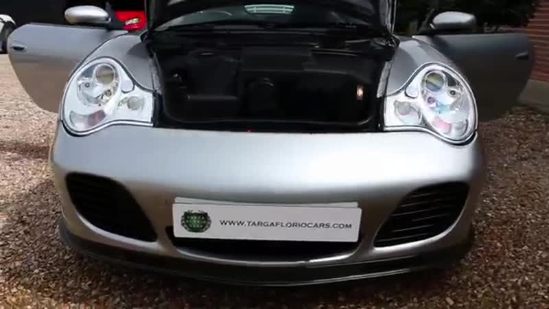 Porsche 911 996 Turbo S Manual in Polar Silver with Full Black Leather