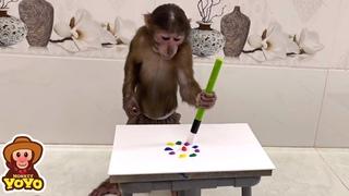 YoYo JR practicing drawing