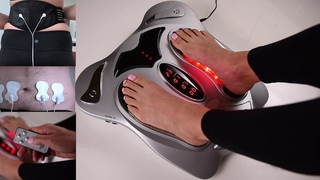 Review- Top10 electric pulse foot massager machine with heat for diabetics reflexology  therapy