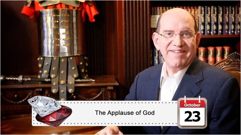 October 23 The Applause of God