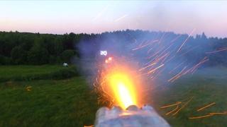"Воздушный бой. Дрон охотник ""Klikbeit"" атакует дрон цель ""F95""."